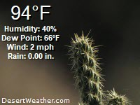Current weather at Desertweather.com